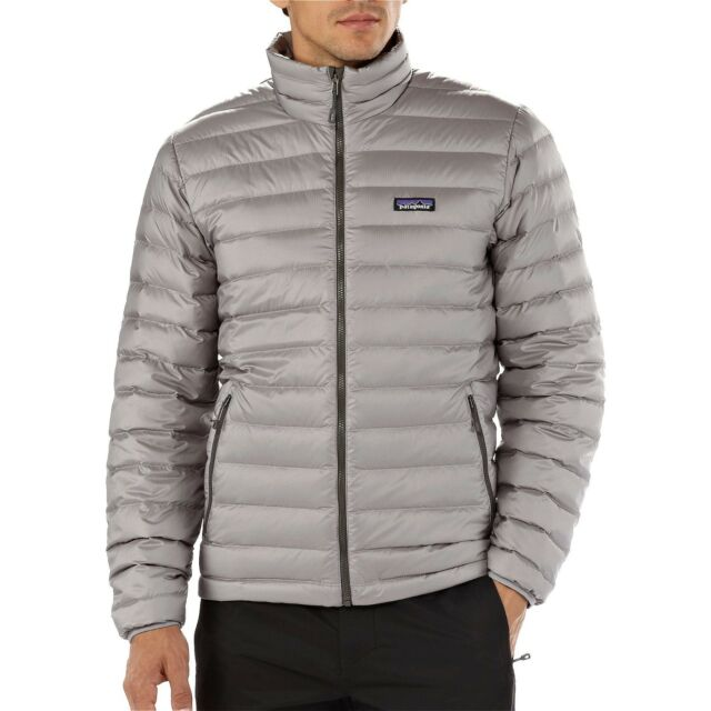 NWT Mens Feather Grey Patagonia Down Sweater Puff Jacket 800 fill Goose  Size 2X