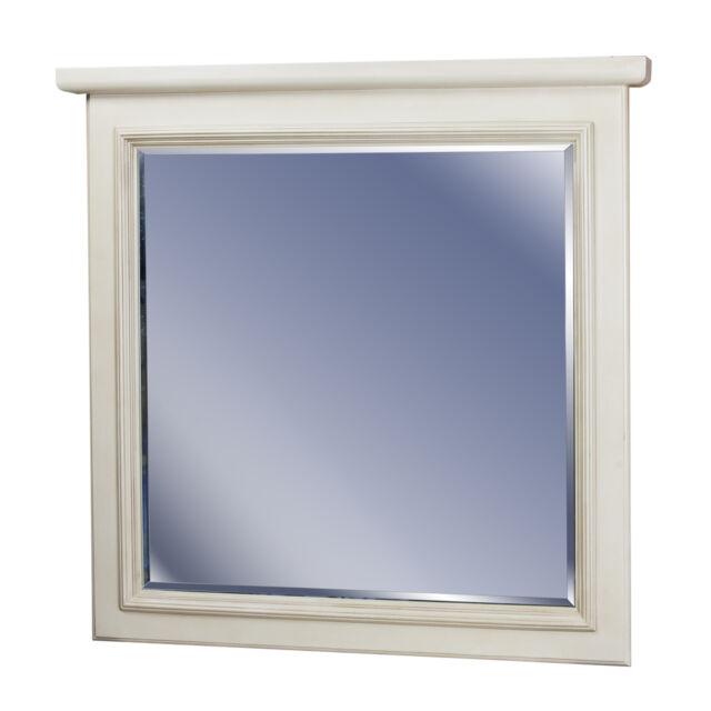 30x30 Antique White Maple Bathroom Mirror