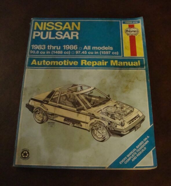 haynes repair manual 72040 nissan pulsar 1983 thru 1986 ebay rh ebay co uk Yamaha Service Manuals PDF Downloadable Online Chevrolet Repair Manuals
