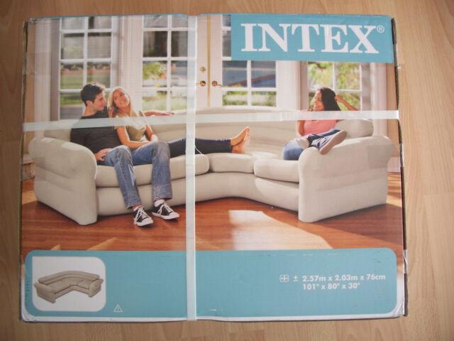 Wohnlandschaft rundecke  Intex Ecksofa 257x203x76cm Couch Lounge Wohnlandschaft Rundecke ...