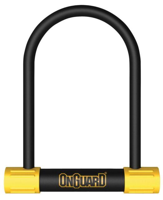 Onguard Bulldog 115mm x 230mm x13mm Shackle DU Key Bike Lock Silver Rated LK8010