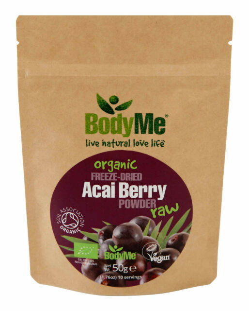 BodyMe Organic Acai Berry Powder 50 g Freeze Dried (Soil Association Certified)