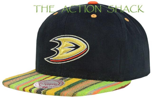 430f16919bb Anaheim Ducks NHL Retro Logo Black orange Snapback Hat Cap by Zephyr ...