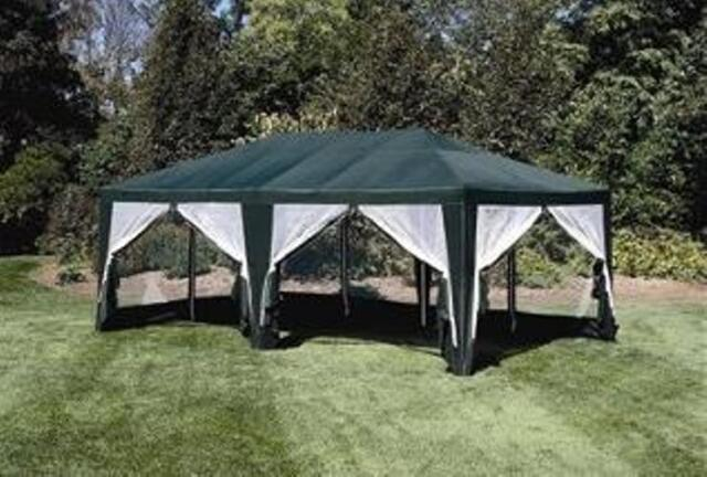 Deluxe Green 12u0027 x 20u0027 Screen House | C&ing Food Tent Event Sun Shelter & 12ft X 20 FT Screen House Party Tent Sun Shelter Gazebo Canopy ...