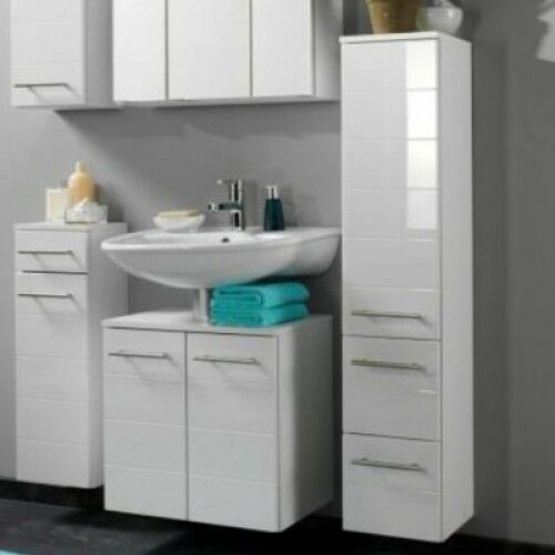 white wall mounted bathroom cabinets wall mounted bathroom cabinet white gloss 24698 | s l640