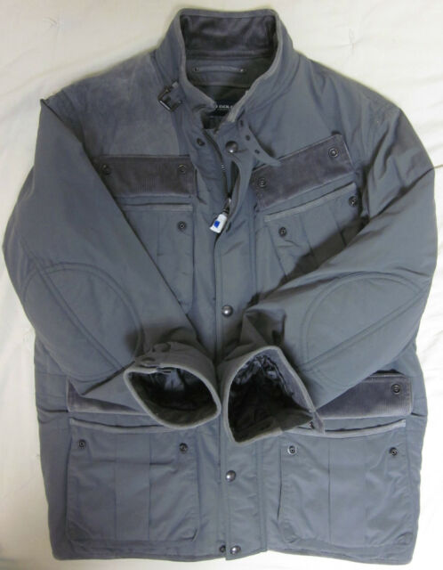 Polo Ralph Lauren Golf Quilted Hunting Jacket Coat Leather Suede