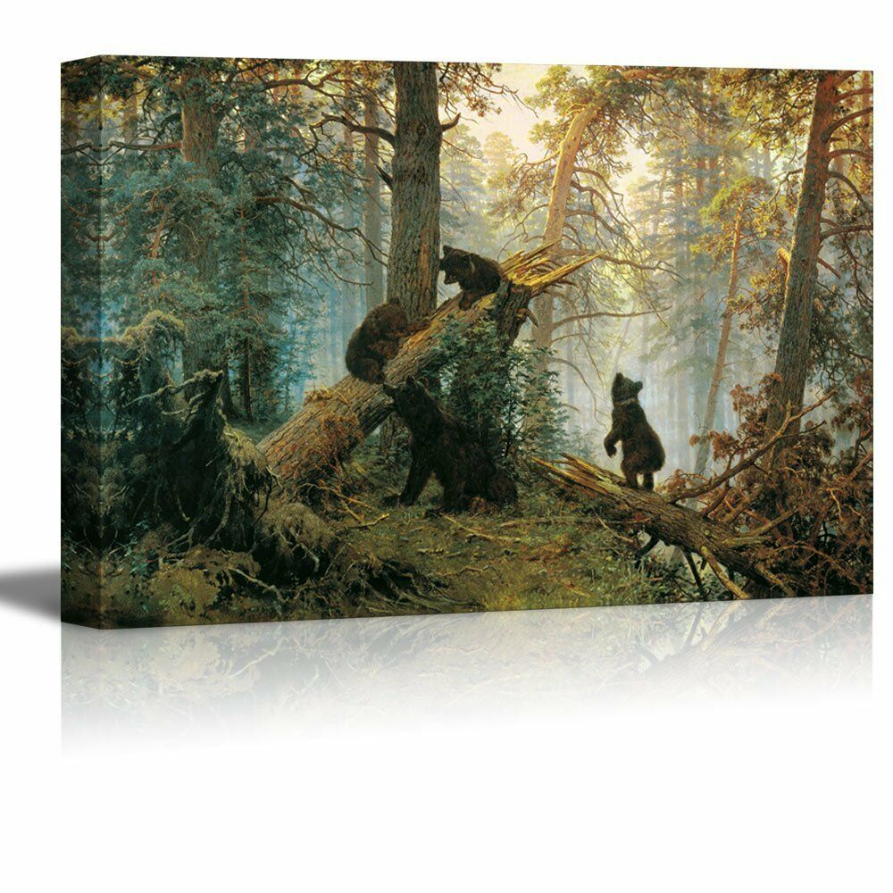 Morning in a Pine Forest Painting by Ivan Shishkin Giclee Canvas ...
