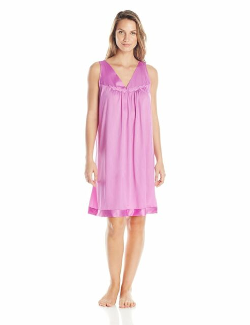 1x Plus Vanity Fair Coloratura Nightgown Gown Impatient Pink Silky ...