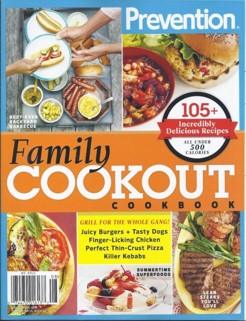 Prevention quick healthy eating 41 meals recipe guide book prevention family cookout cookbook magazine over 105 recipes burgers chicken forumfinder Gallery