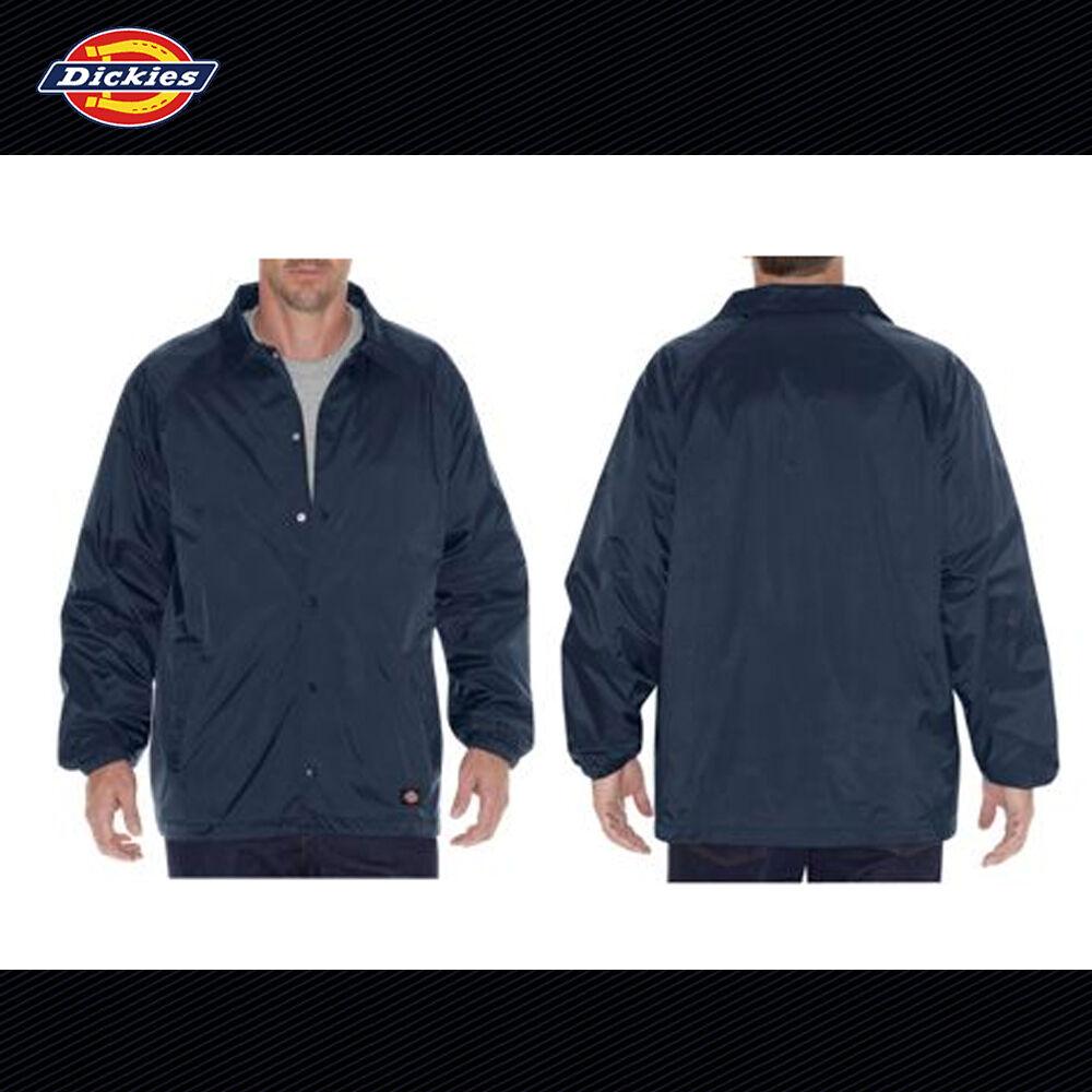 Dickies 76242 Snap Front Nylon Windbreaker Jacket Dark Navy L | eBay