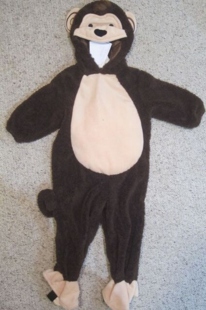 NWT Koala Kids Brown Monkey Halloween Costume Outfit Infant 6 9 Months Baby & Koala Kids Plush Monkey Halloween Costume Brown 6 - 9 Month Boy Girl ...