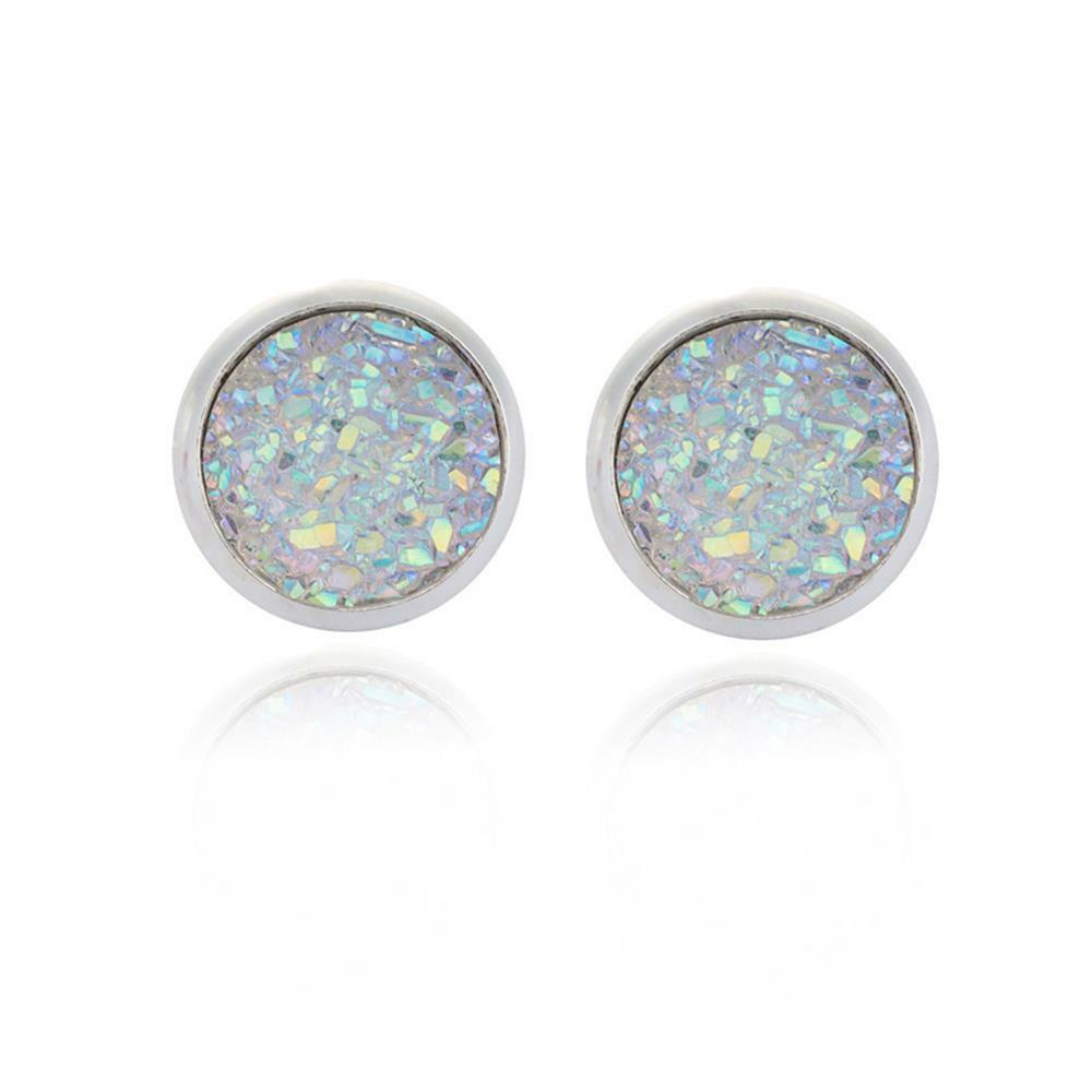 island product copy stone druzy dsc earrings blue the gold cabana natural