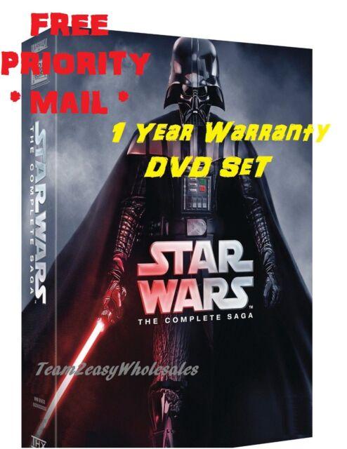 FREE PRIORITY MAIL NEW Star Wars: Complete Saga episodes 1-6 Box Set 12-Disc DVD