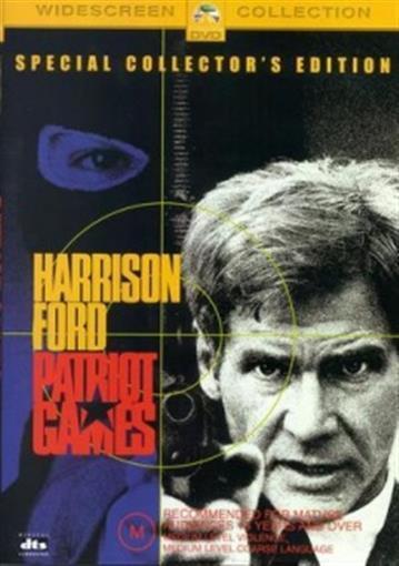 PATRIOT GAMES Harrison Ford, Anne Archer DVD NEW