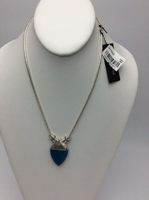 Silver-tone and Crystal Stone Pendant Necklace Kenneth Cole YrY0iFHwdA
