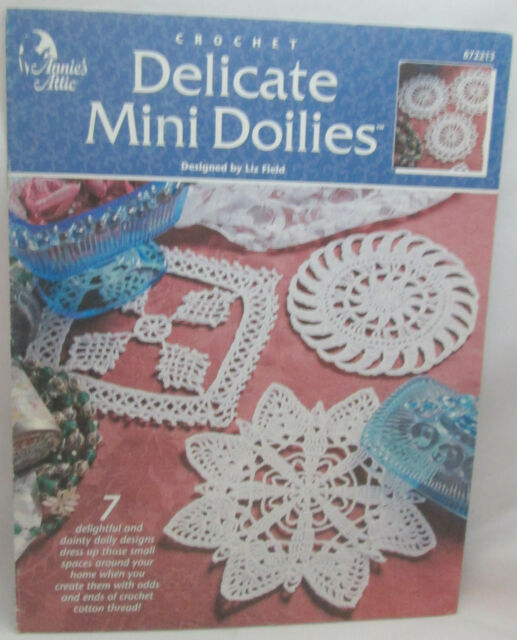 Delicate Mini Doilies Thread Crochet Pattern Booklet Annies Attic 7