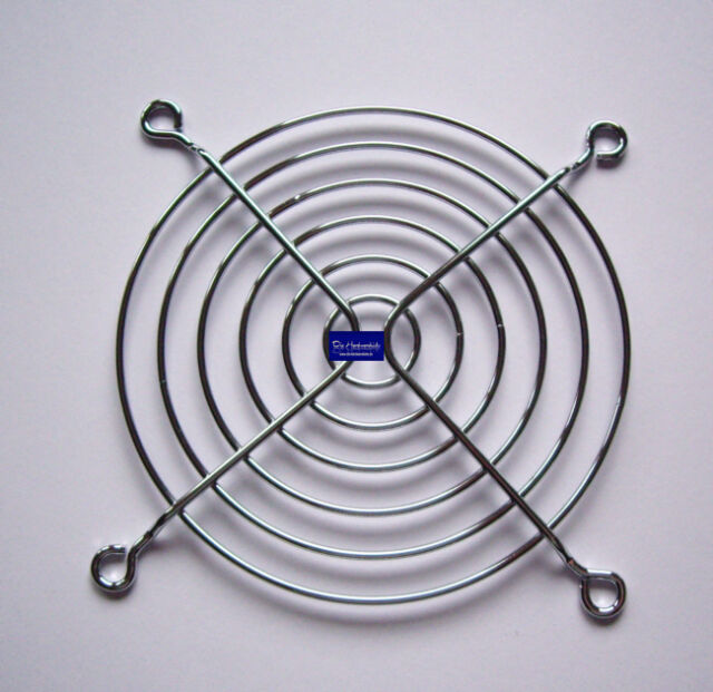 * Lüftergitter * Schutzgitter Metall für 92 mm Lüfter verchromt silber 92 x 92mm