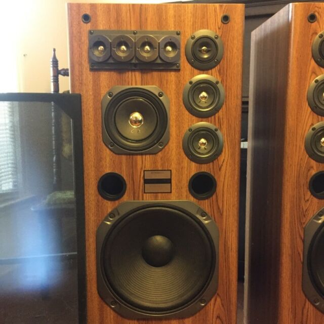 vintage pair of pioneer cs t7300 l speakers made in japan. Black Bedroom Furniture Sets. Home Design Ideas