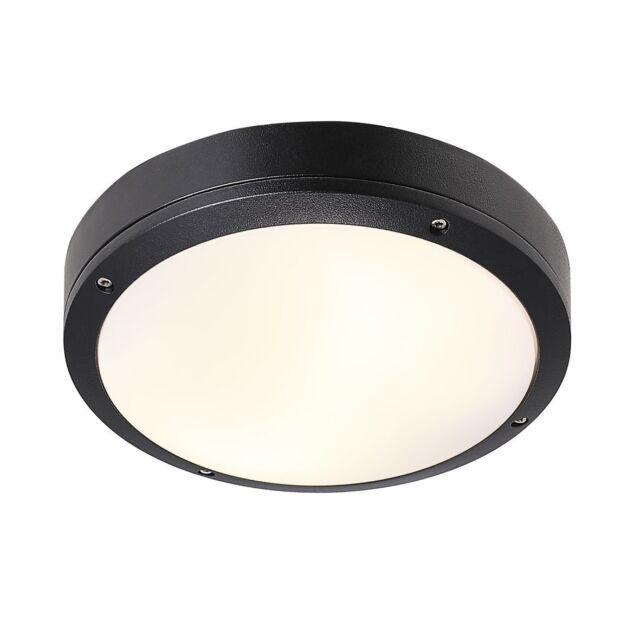 Nordlux Deckenleuchte Desi schwarz IP44 Aluminium 2xE27 Ø28 Badleuchte Wandlampe