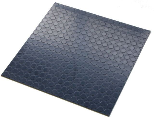 Dark Blue Indoor Highest Quality Round Stud Rubber Floor Tiles 500mm