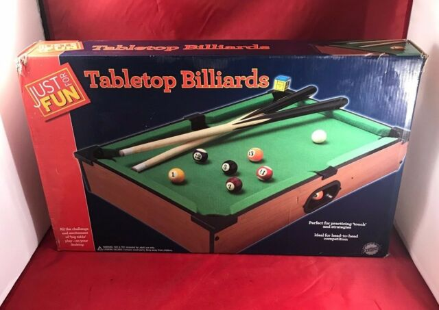 Lovely Just For Fun Table Top Billiards Game | EBay