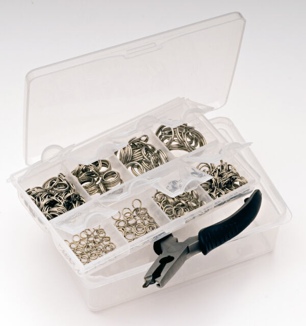 Behr Sprengring-Box Zange + 310 Ringe Sortiment Springringzange Pilker Drilling