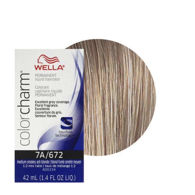 Wella Color Charm Permament Liquid Hair Dye Medium Smokey Ash Blonde ...