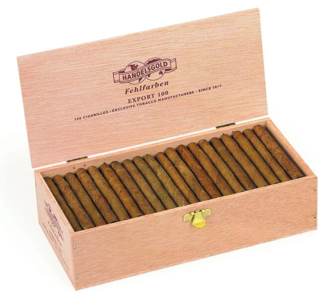 Handelsgold Fehlfarben Export 100 / 100 Cigarillos Zigarillos Zigarren