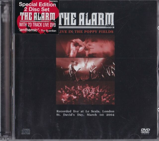 THE ALARM - Live in the Poppy Fields  CD+DVD Special Edition     NEU&OVP!