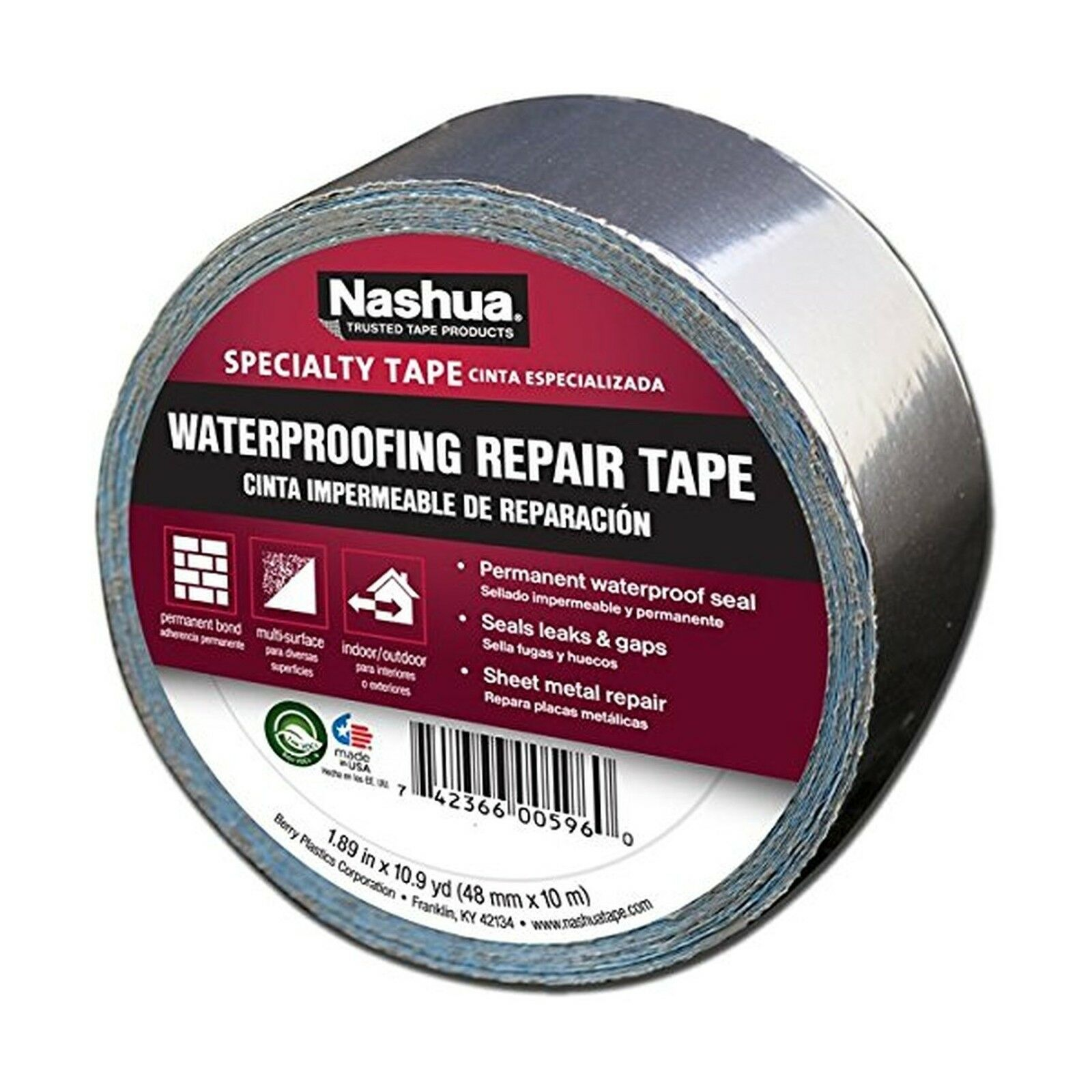 Nashua Aluminum Foil Tape for Waterproofing Repair 48 Mm Width 11 ...