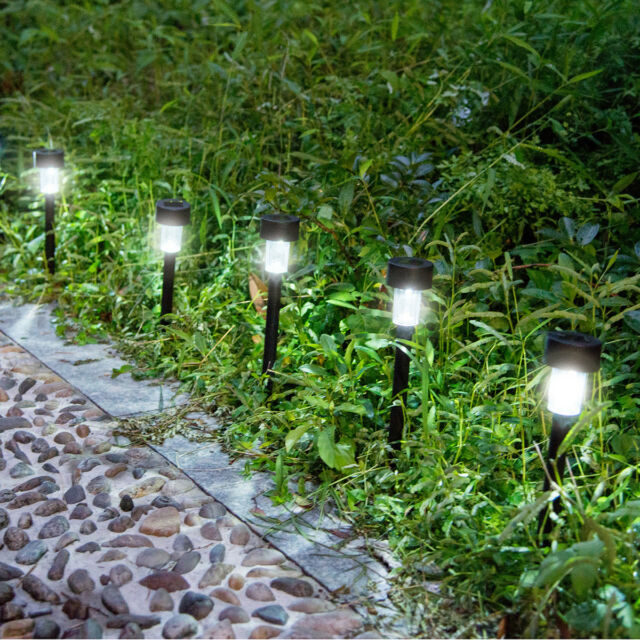10pcs solar led power outdoor path light spot lamp yard garden lawn 10pcs solar power outdoor path light spot lamp yard garden lawn landscape white aloadofball Image collections