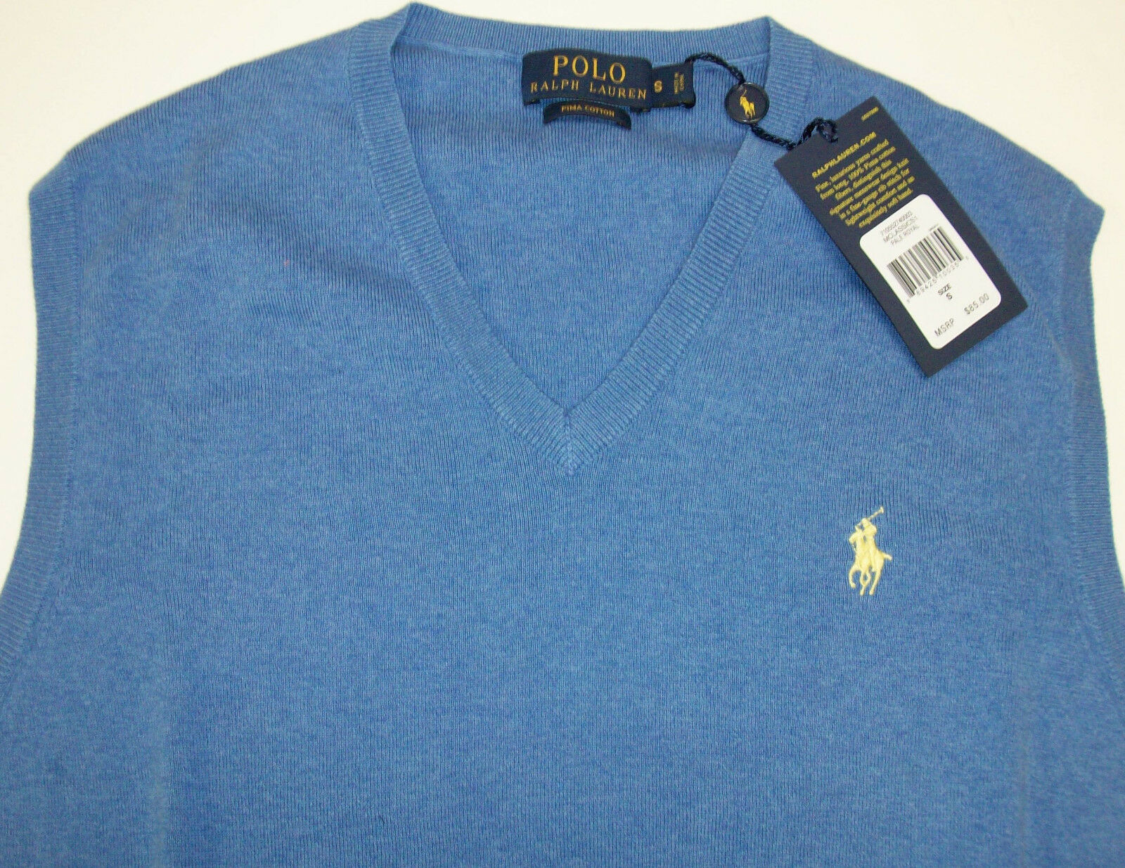 Polo Ralph Lauren Royal Blue Heather Mens Size Large L Sweater ...