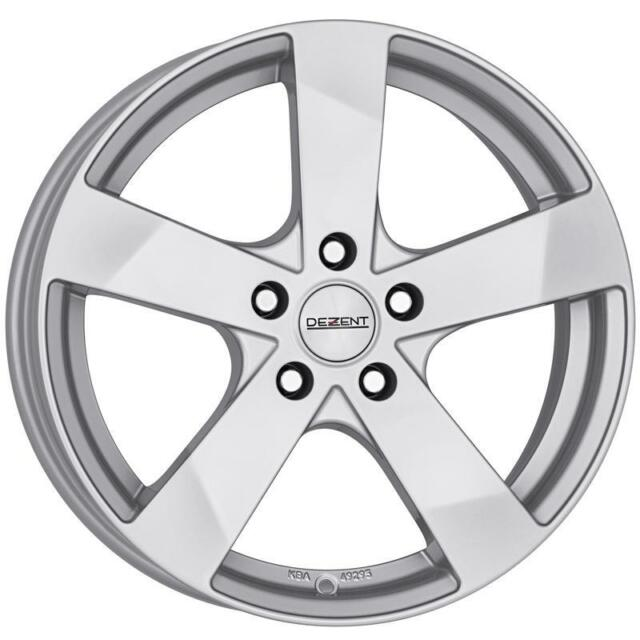 "17"" DEZENT TD SILVER ALLOY WHEELS ONLY BRAND NEW 5x112 RIMS"