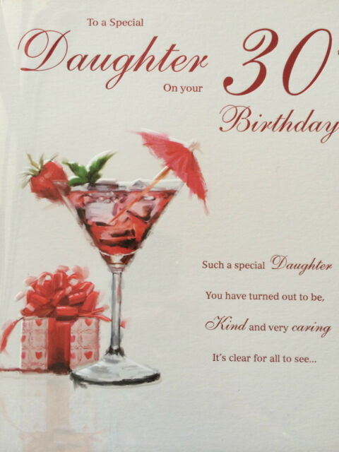 Daughter on Your 30th Birthday Birthday Card – Daughter 30th Birthday Card