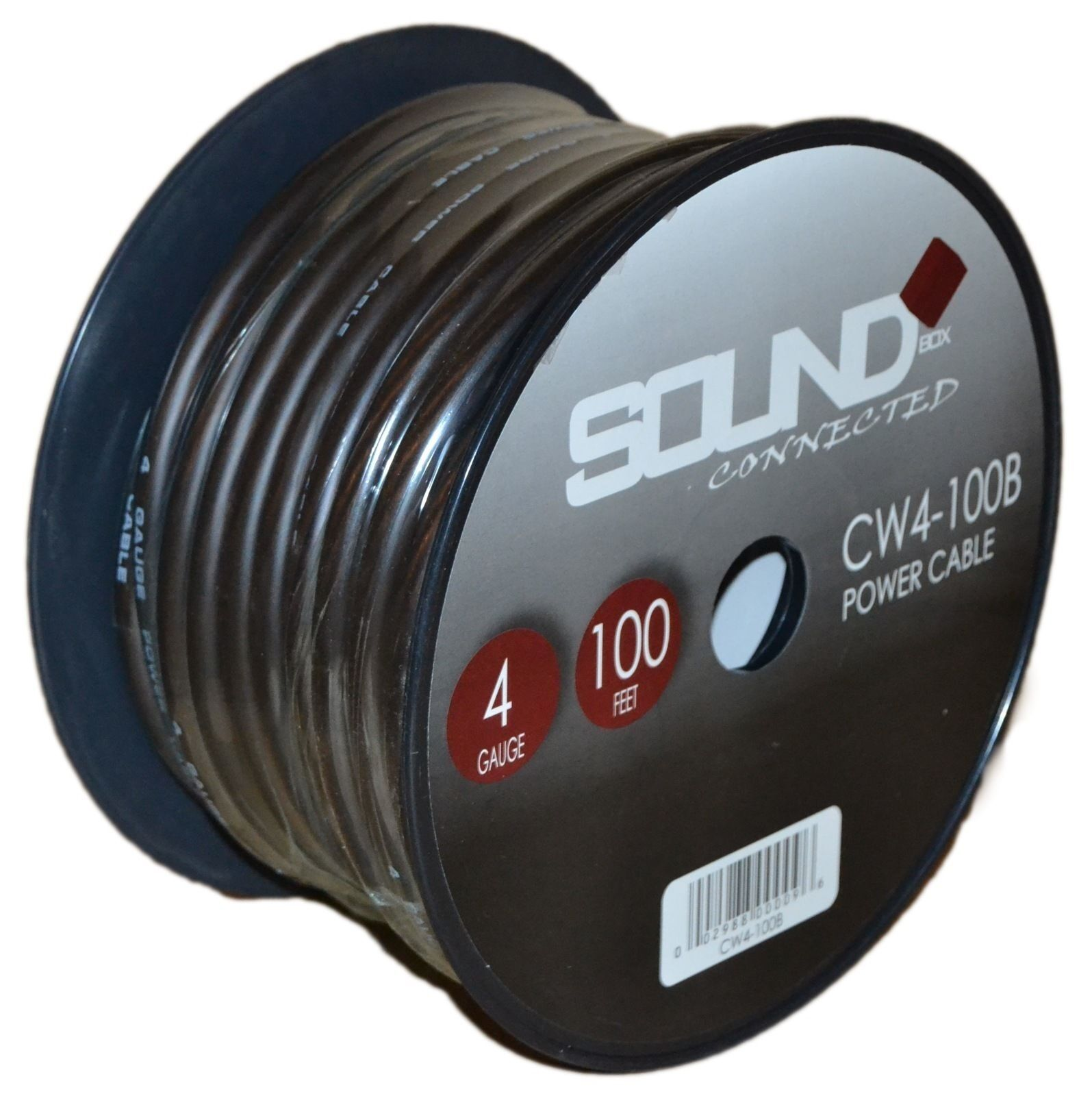 Soundbox Connected 4 Gauge Black Amplifier Amp Power/ground Wire 100 ...