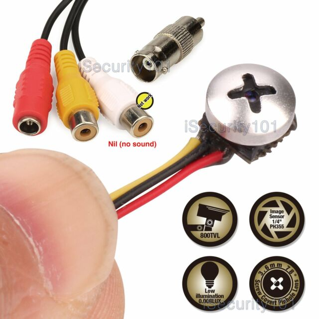 Mini Micro Spy Camera Cam Screw Pinhole Hidden Button Home CCTV ...