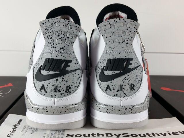 Nike Air Jordan 4 IV Retro OG White Cement 2016 840606-192 SIZE 9.5! USED!