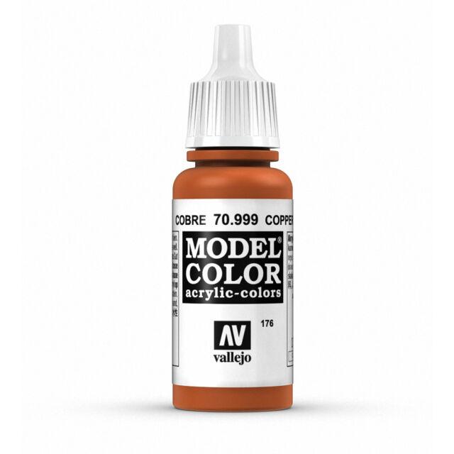 Vallejo Model Color: Copper - VAL70999 Acrylic Paint Bottle 17ml 176