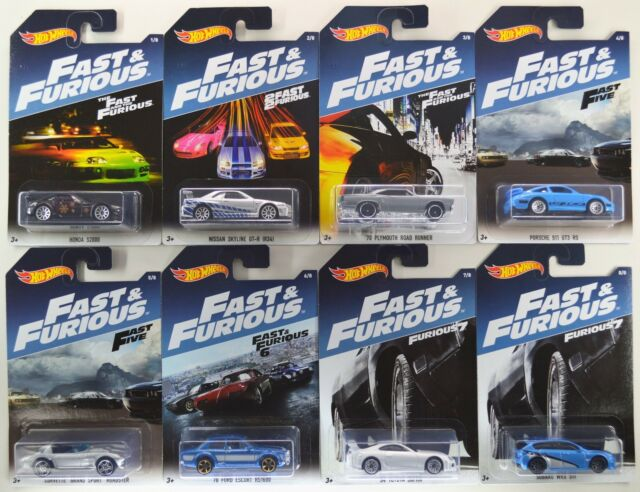2017 hot wheels fast and furious walmart complete 8. Black Bedroom Furniture Sets. Home Design Ideas