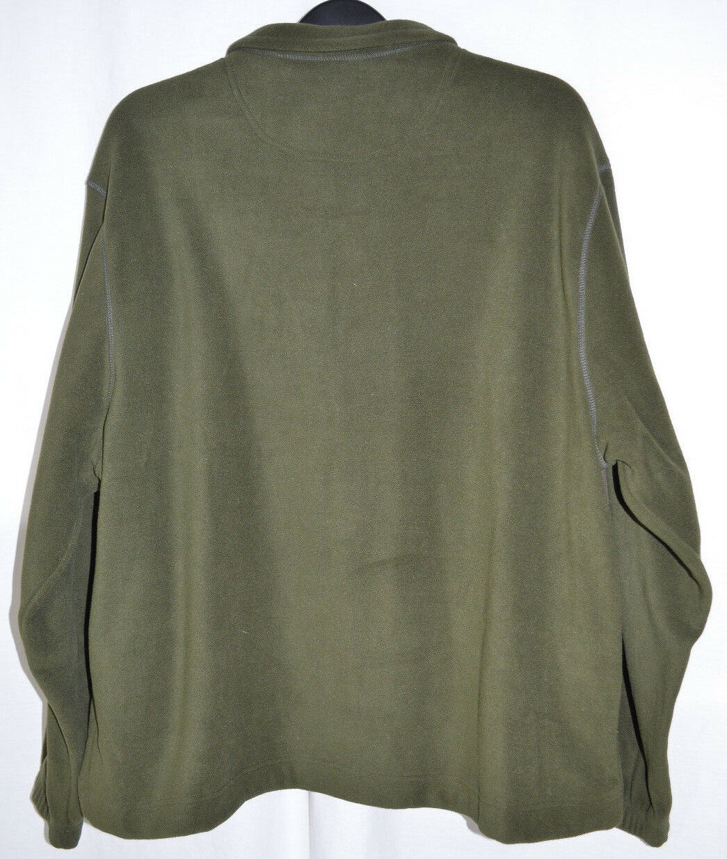 Saddlebred Fleece Pullover Jacket 1/4 Zip Olive Green Men's XL | eBay