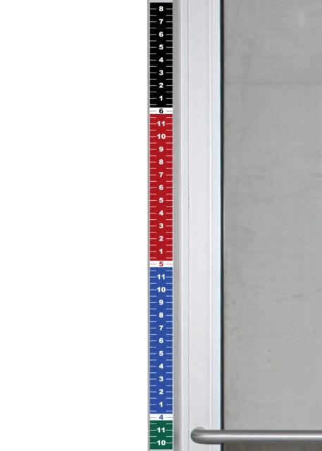 Set of 2 - Security Height Ruler Tape Door Frame 1.75\