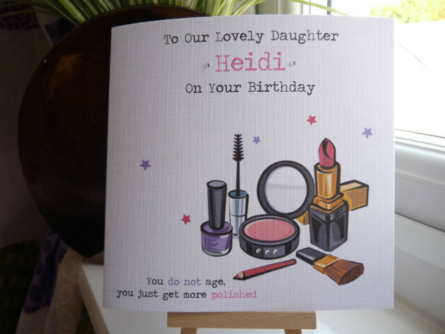 Handmade personalised make up birthday card female girl daughter handmade personalised make up birthday card female girl daughter friend niece bookmarktalkfo Images