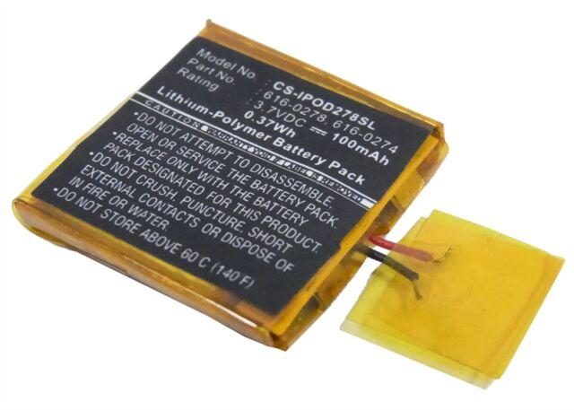 Battery suitable for Apple iPOD Shuffle G2 1GB, iPOD Shuffle G3