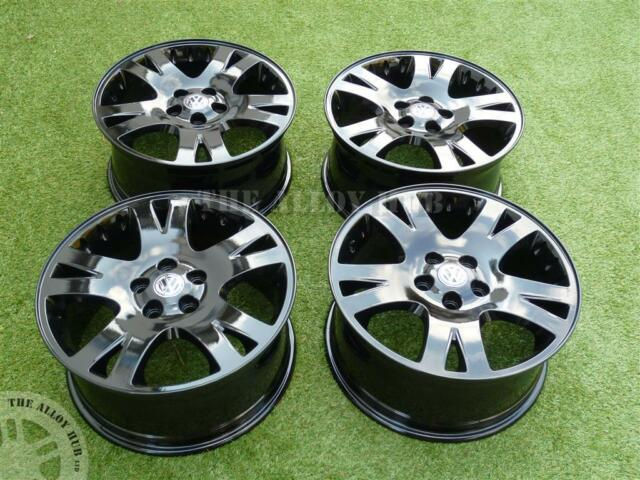 VW TRANSPORTER T5 SPORTLINE/CARAVELLE 19INCH LOAD RATED GLOSS BLACK ALLOY WHEELS