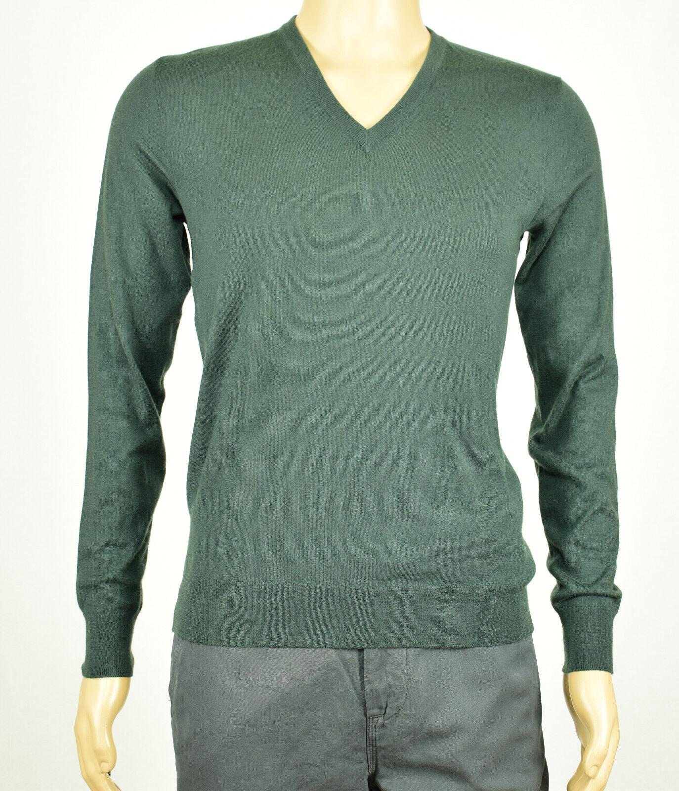 Ralph Lauren Black Label Mens Pine Green V-neck 100 Cashmere ...