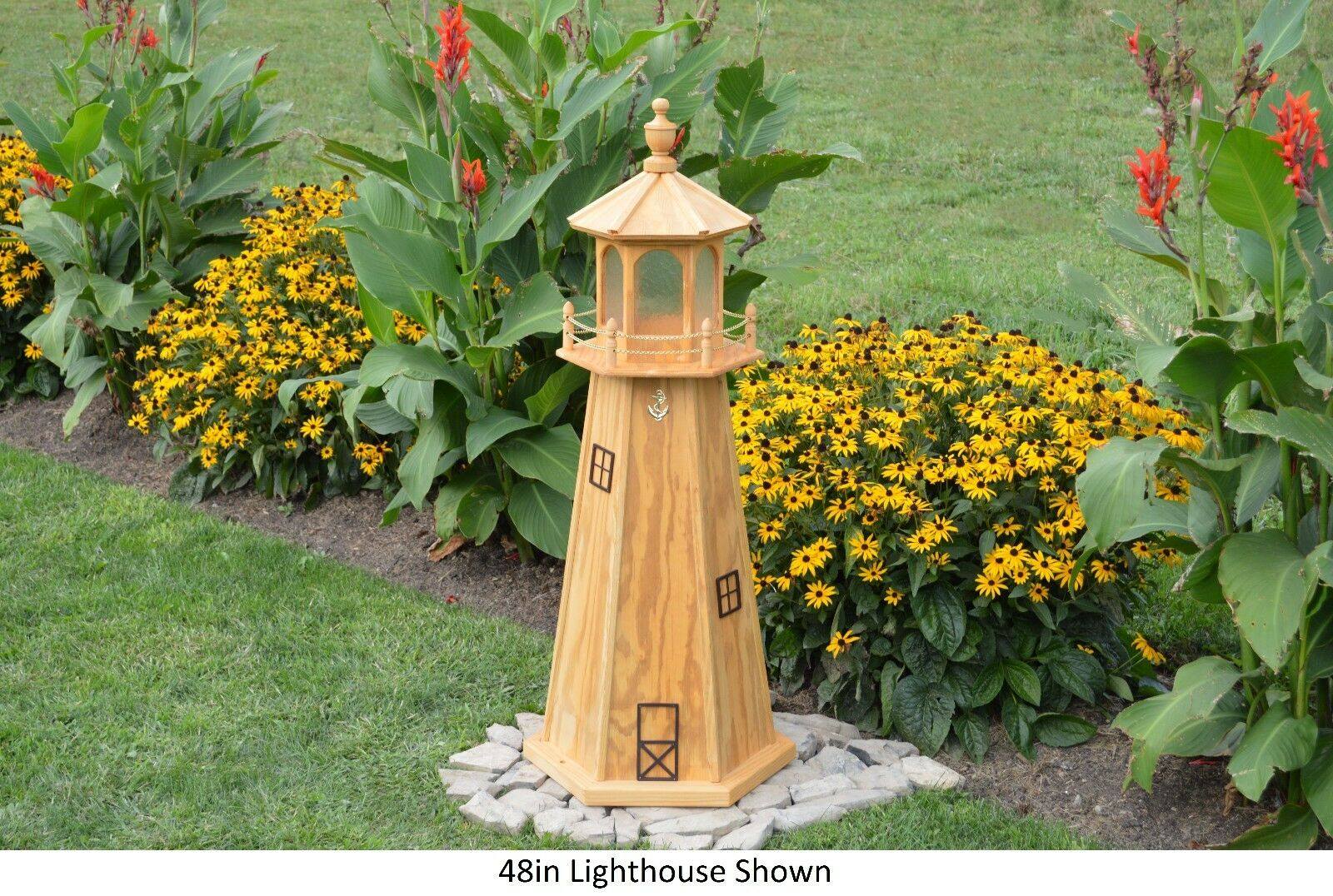 Amish-made Wooden Lighthouse With Lighting 60\