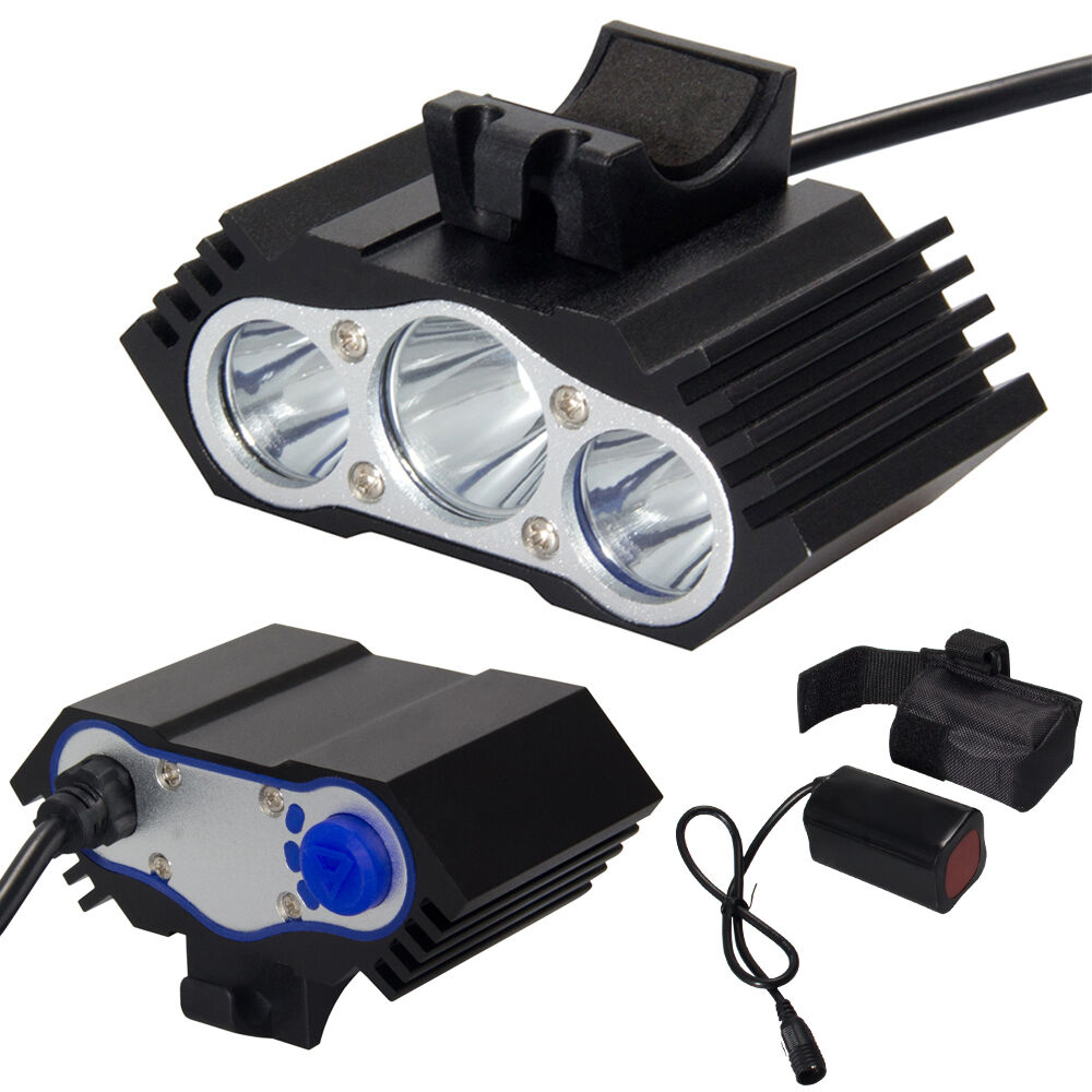 12000lm 3 X Cree Xm L T6 Led Bicycle Lamp Bike Headlight Cycling