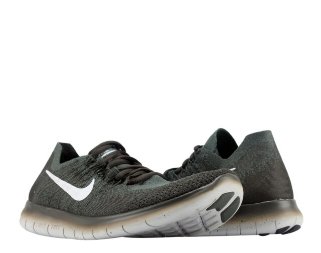 Nike Free RN Flyknit 2017 Vintage Green/Platinum Men's Running Shoes  880843-300
