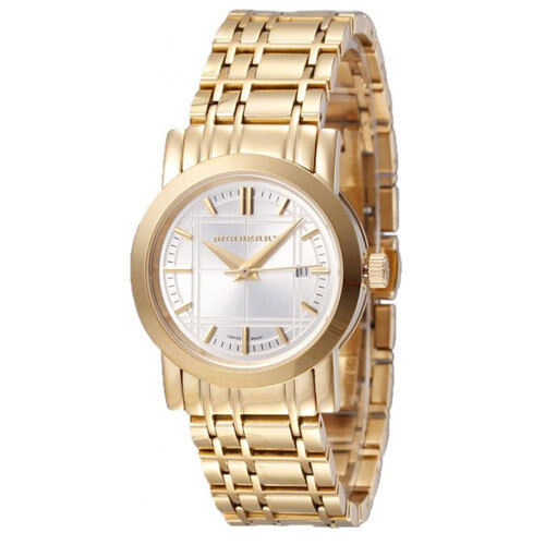 burberry gold watches for women