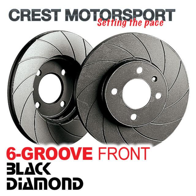 BLACK DIAMOND 6-Groove Vented Front Brake Discs (312mm) Grooved KBD971G6